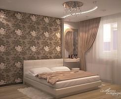 Спальня бежевая