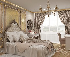 Комната для девушки в стиле барокко